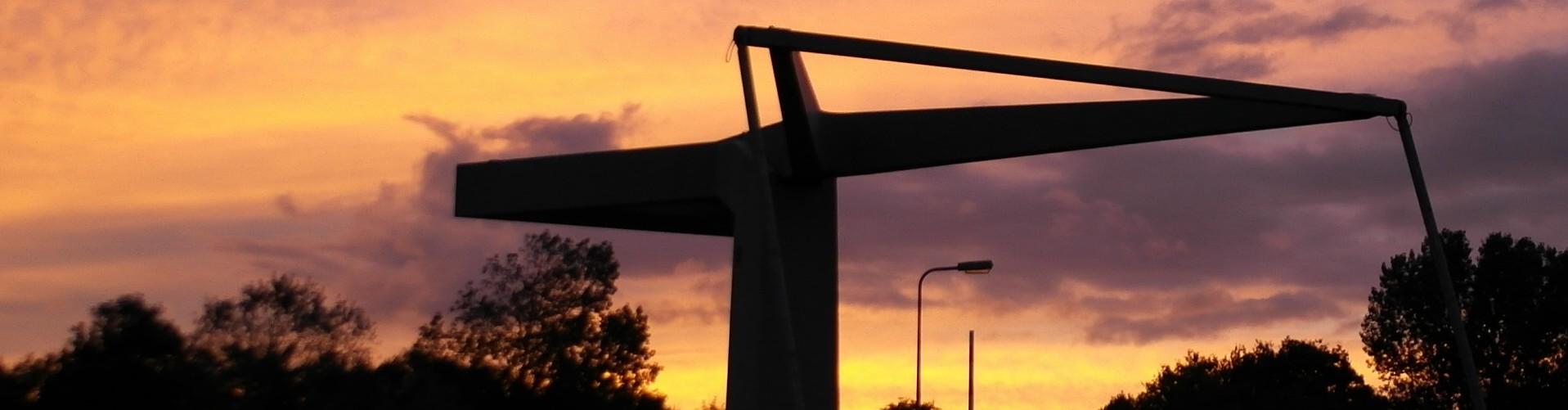 zons ondergang brug