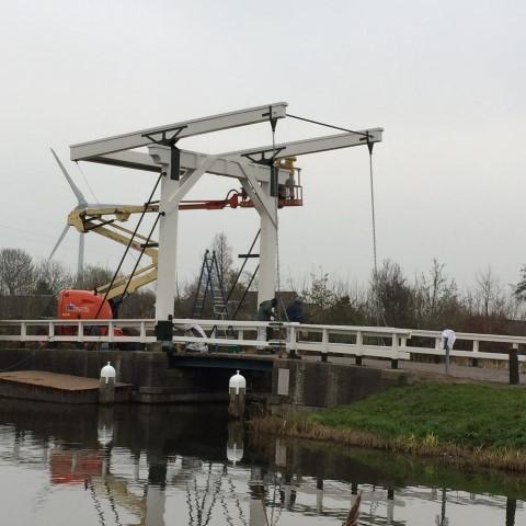 Houten ophaalbrug renovatie